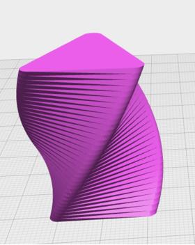 正方变三角的花瓶(圆角)